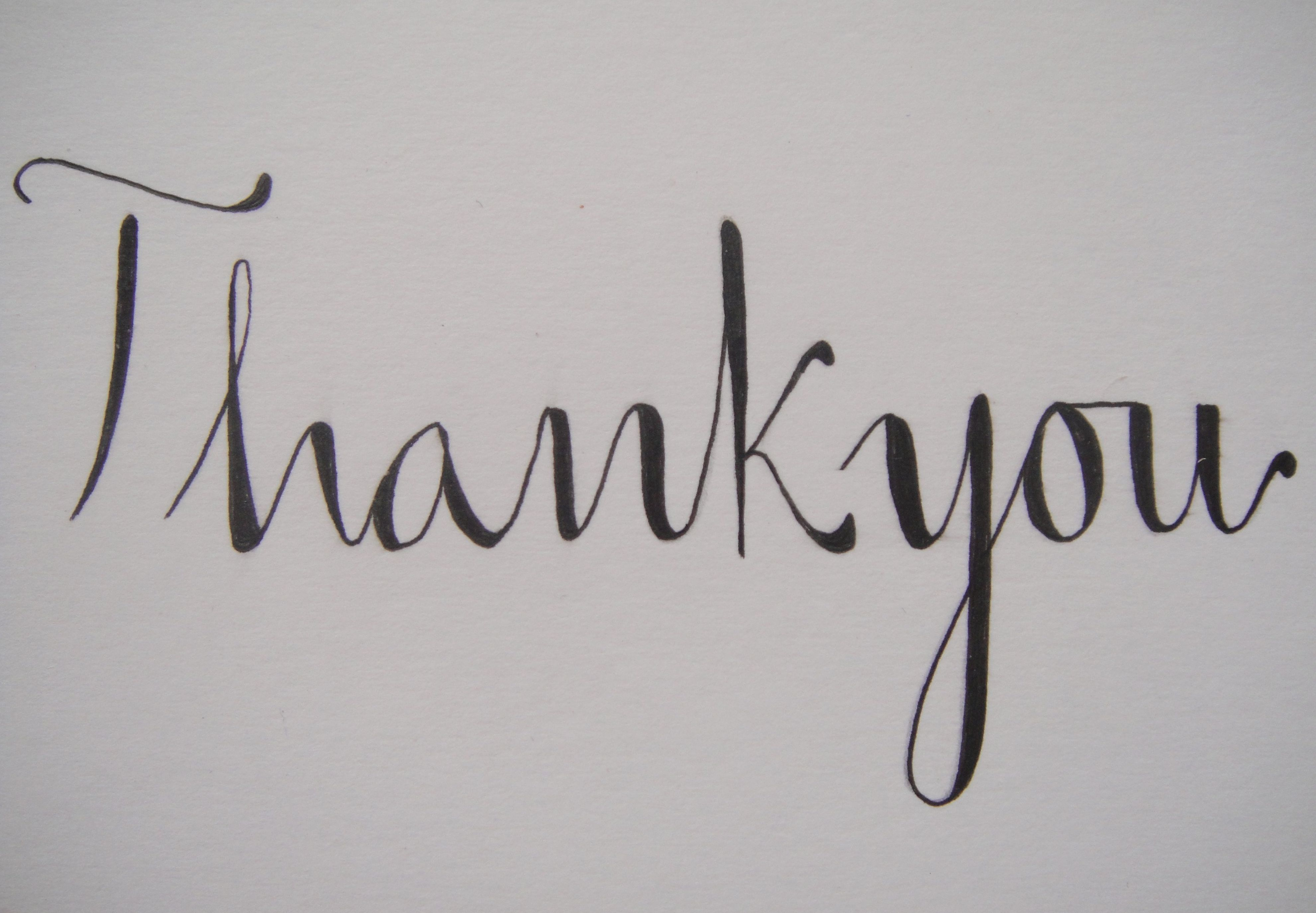 Calligraphy thank you pictures to pin on pinterest daddy